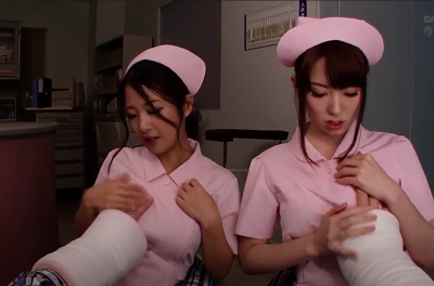 Hai nữ y tá xinh đẹp siêu dâm đãng Satomi Suzuki và Yui Hatano